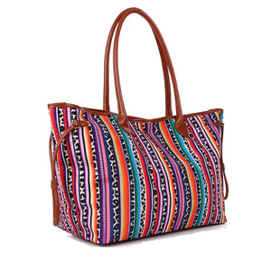 Large Serape Leopard Tote Cheetah Aztec Shopping Diaper Bag Beach Purse