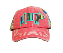 Southern Junkie Jr Young Girls Adjustable Pig Serape Hat Ag Farm Aztec Cap Pink