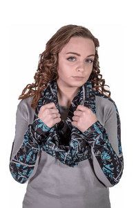 Muddy Girl Camo Serenity Western Womens Girls Infinity Scarf Neck Wrap Purple Pinke Blue Black