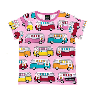 Villervalla T-Shirt Short Sleeve - Ice Cream Truck - Light Petunia