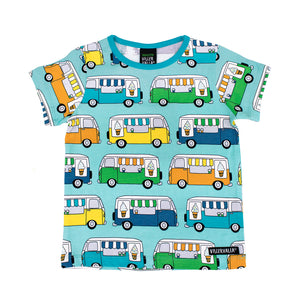 Villervalla T-Shirt Short Sleeve - Ice Cream Truck - Light Reef