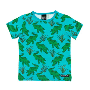 Villervalla T-Shirt Short Sleeve - Animal - Crocodile