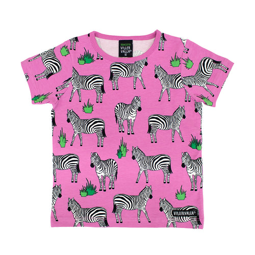 Villervalla T-Shirt Short Sleeve - Animal - Zebra