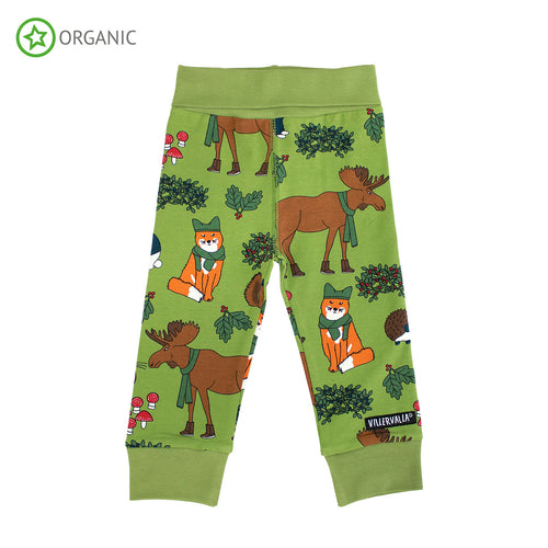 Villervalla Nordic Animals Cuff Leggings - Turtle