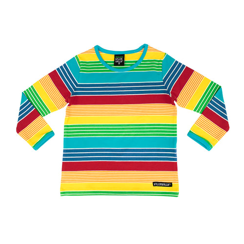 Villervalla T-Shirt Long Sleeve - Multistripe - New York