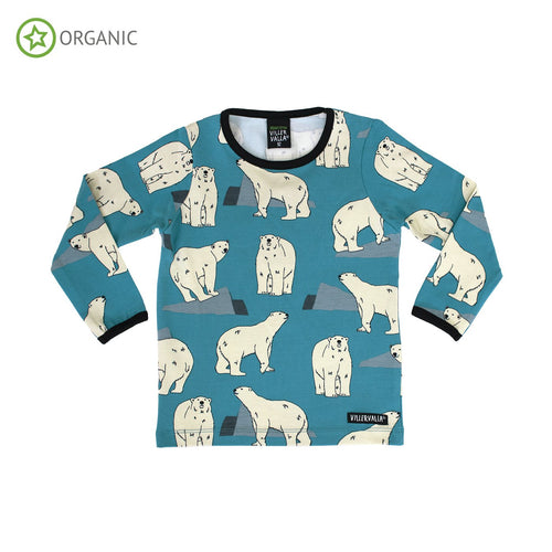 Villervalla T-Shirt Long Sleeve - Polar Bear - The Thrifty Stork