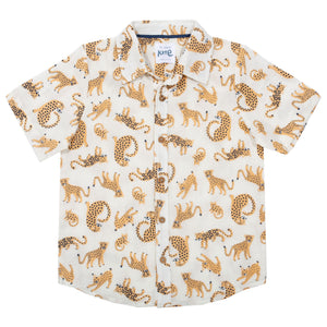 Kite Cat Kingdom Shirt Short Sleeve - Cream