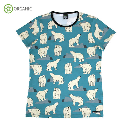 Villervalla Adult T-Shirt Short Sleeve - Polar Bear - The Thrifty Stork