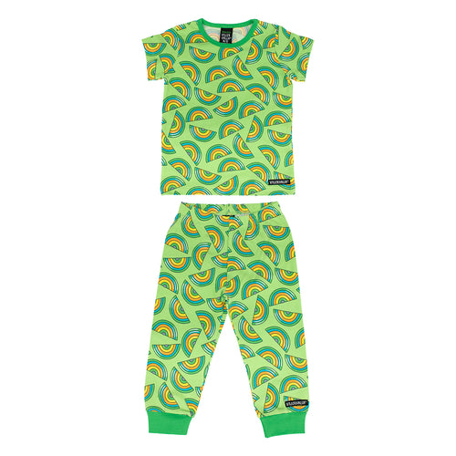 Villervalla T-Shirt & Trousers Set - Rainbow - Lgt Pea