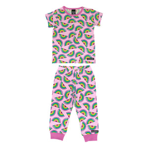Villervalla T-Shirt & Trousers Set - Rainbow - Lgt Petunia