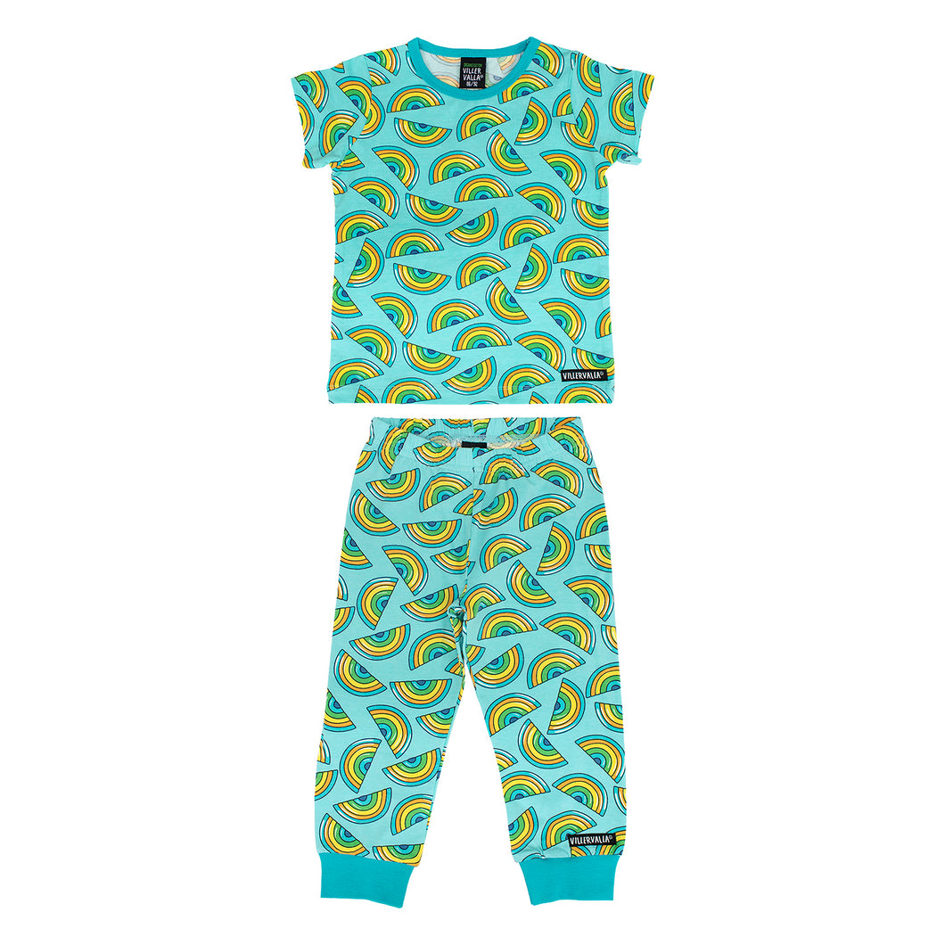 Villervalla T-Shirt & Trousers Set - Rainbow - Light Reef