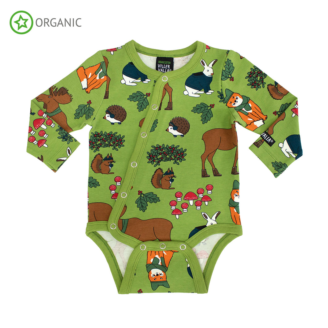 Villervalla Nordic Animals Body Long Sleeve With Slanted Opening - Turtle