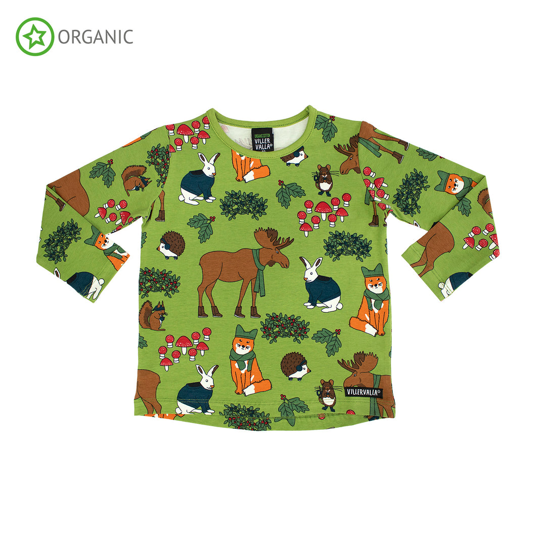 Villervalla Nordic Animals Relaxed T-Shirt Long Sleeve - Turtle