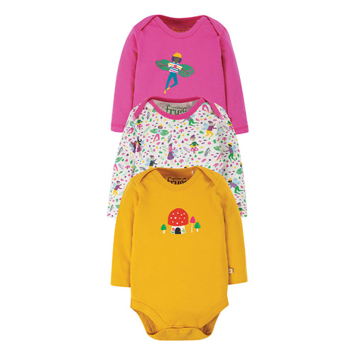 Frugi Super Special Body Long Sleeve - Fairy (3 Pack) - New Release
