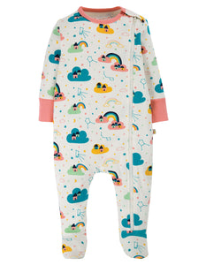 New Release Frugi Zipped Babygrow Above The Stars - The Thrifty Stork