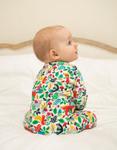 Frugi  Zipped Babygrow Multi Woodland Creatures
