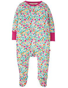 Frugi Lovely Babygrow - Ditsy Flower Valley