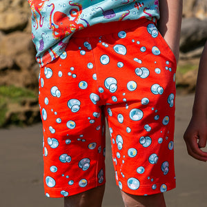 Coddi & Womple Jungle Shorts - Bubble Bubble Orange