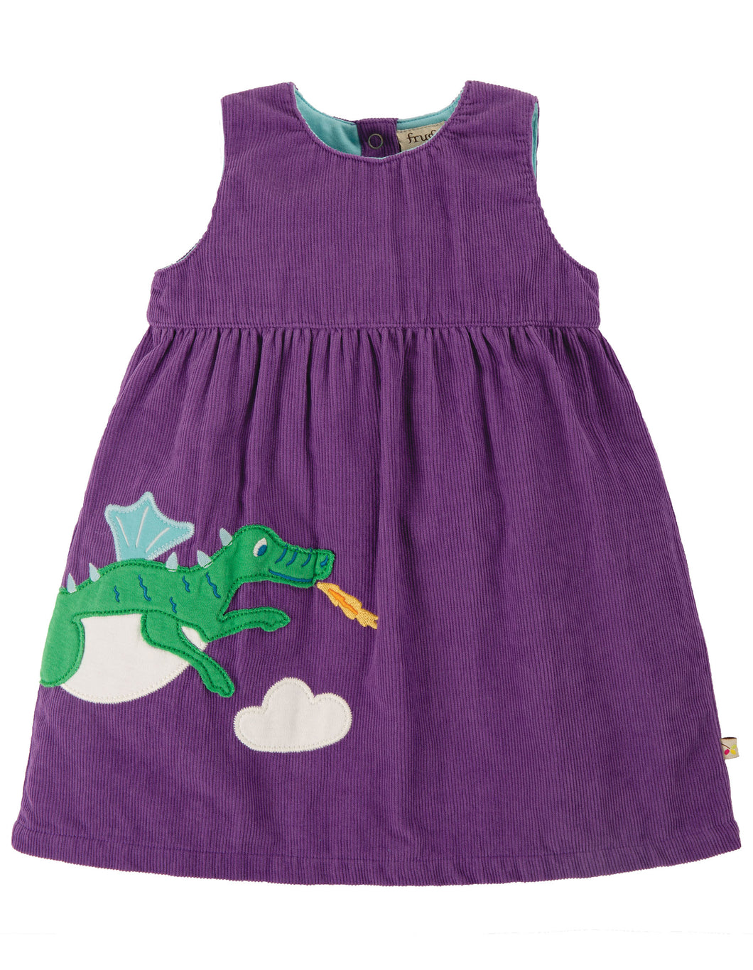 Frugi Lily Cord Dress No Sleeve - Thistle Dragon - New Release
