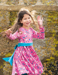 NEW RELEASE Frugi  Party Skater Dress Unicorns