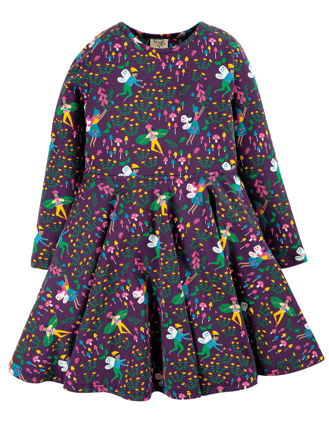 Frugi  Sofia Skater Dress Fairy Friends
