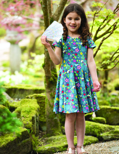 Frugi Spring Skater Dress Garden Friends - INDIE EXCLUSIVE!