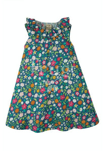 Frugi, Dina Slub Dress, Flower Valley