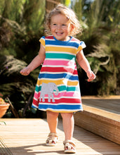 Frugi Gianna Dress Rainbow Multistripe/Elephant
