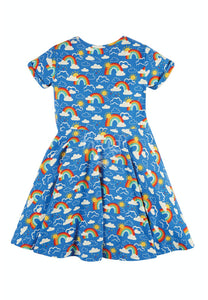 Frugi, Spring Skater Dress, Rainbow Skies