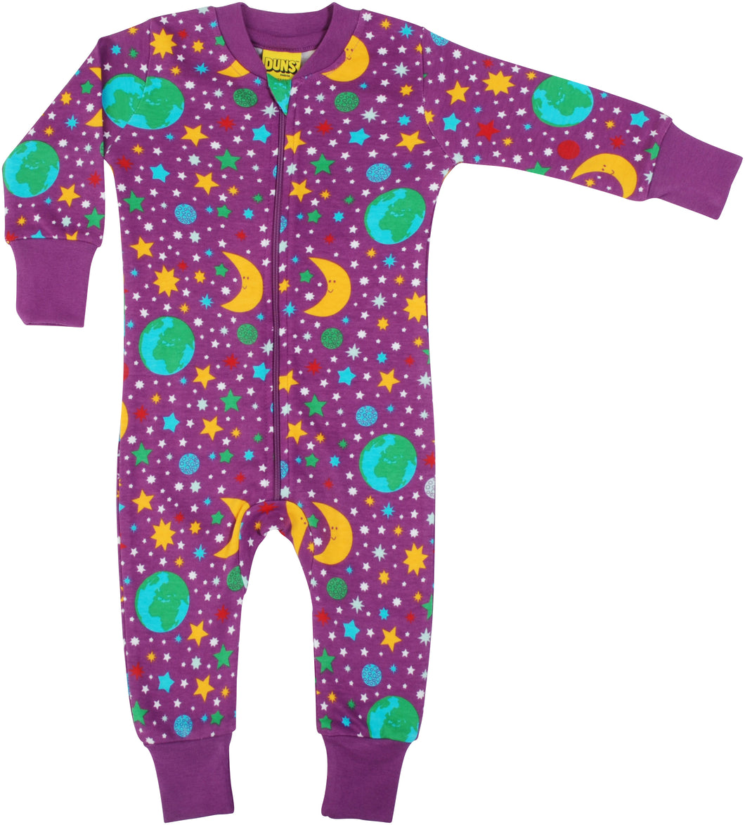 DUNS Sweden Zip Suit - Mother Earth Bright Violet
