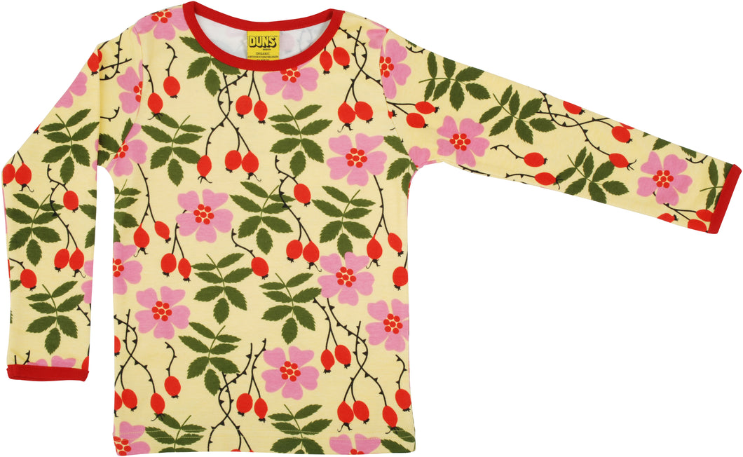 DUNS Sweden Top Long Sleeve - Rosehip Yellow