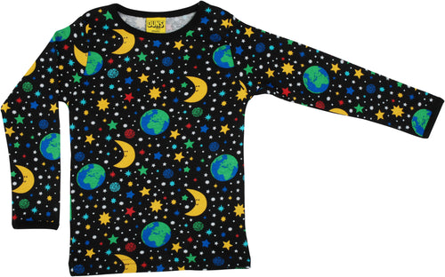 DUNS Sweden Top Long Sleeve - Mother Earth Black