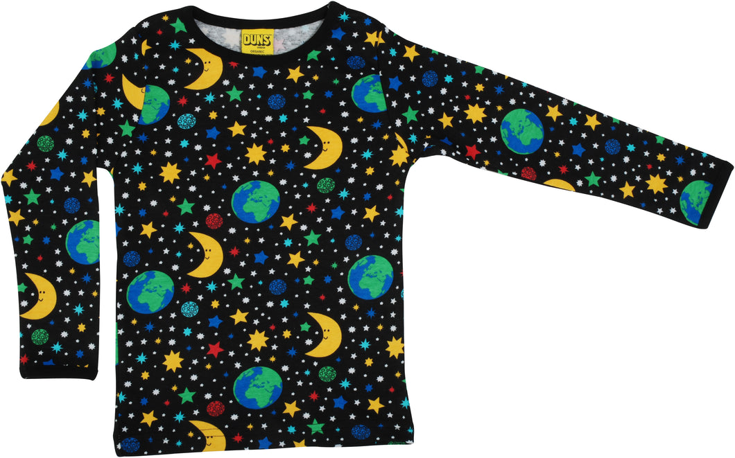 Duns Sweden Top Long Sleeve - Mother Earth Black *