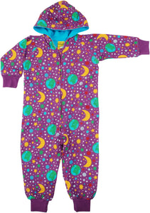DUNS Sweden Lined Suit With Hood - Mother Earth Bright Violet *