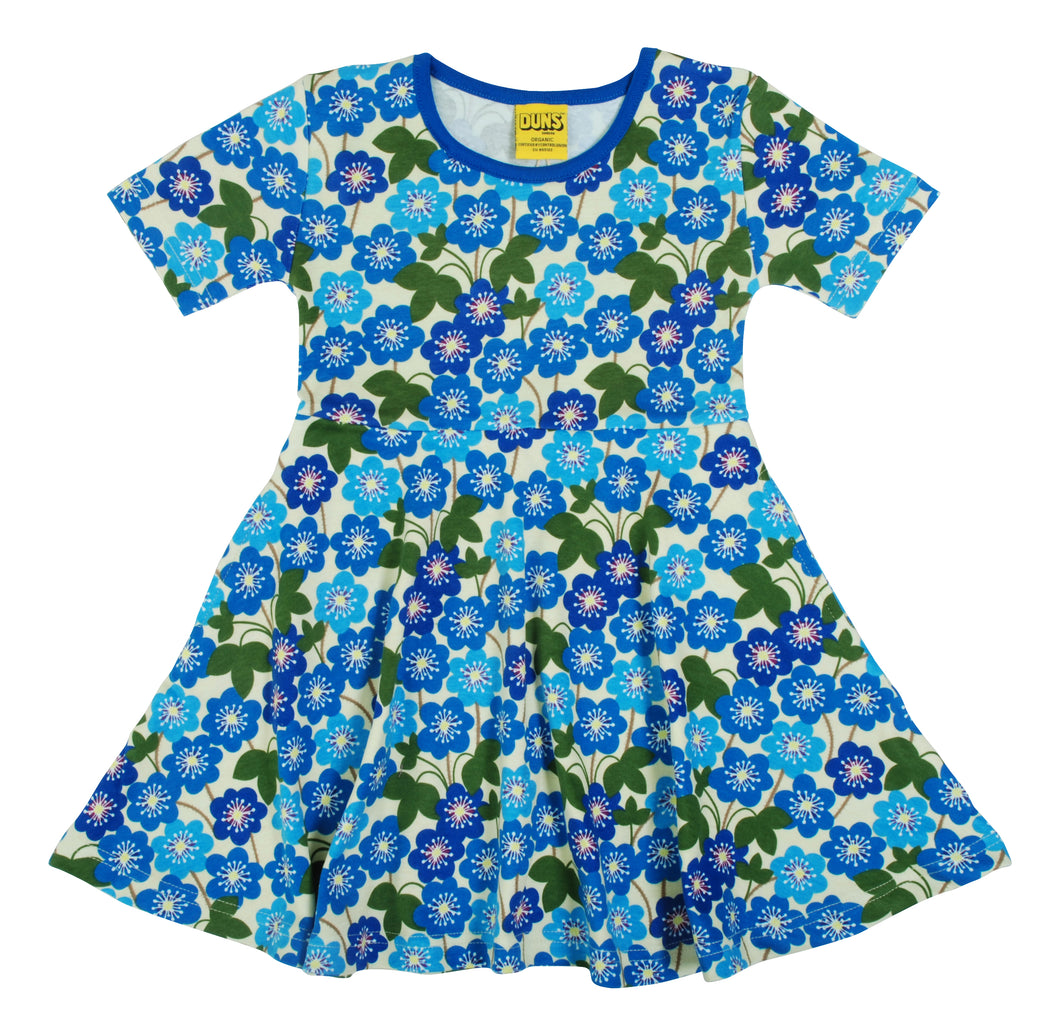 DUNS Short Sleeve Skater Dress Hepatica Nobilis