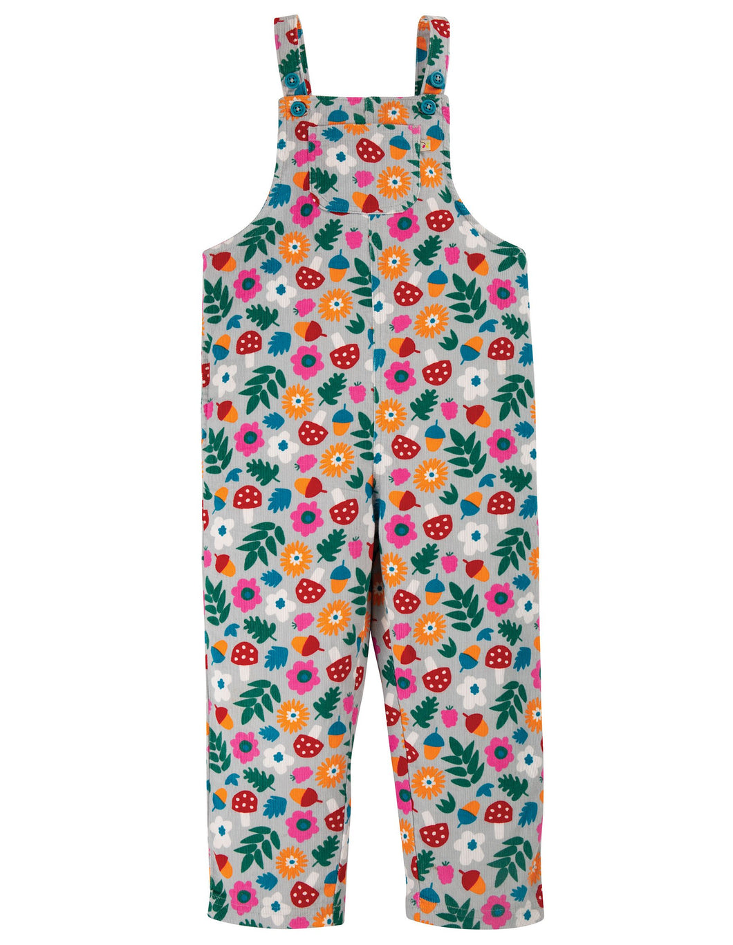 New Release Frugi Neptune Cord Dungaree Tin Roof Lost Words - The Thrifty Stork
