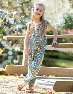 Frugi Maya Dungaree Rabbit Fields