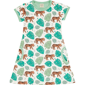 Maxomorra Meyadey Dress SS TIGER JUNGLE