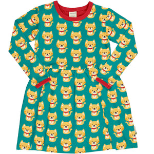 Maxomorra Dress Spin Long Sleeve Cat