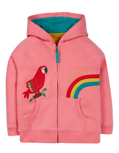 Frugi Dorothy Hoody Mid Pink/Parrot