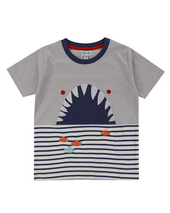 Lilly And Sid Shark Character T-Shirt - The Thrifty Stork