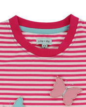 Lilly And Sid 3-D Butterfly Stripe Top - The Thrifty Stork