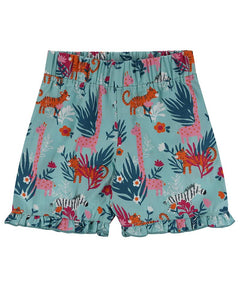 Lilly And Sid Frill Hem Shorts - Safari - The Thrifty Stork