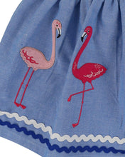 Lilly And Sid Applique Hem Skirt- Flamingo - The Thrifty Stork