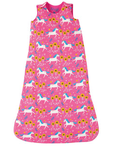 Frugi Bedding Snuggler Sleeping Bag Flamingo Unicorn Skates - The Thrifty Stork