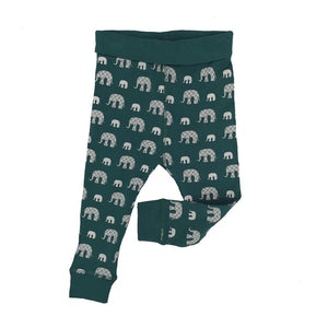 Lily & Mortimer Mortimer Elephant Legging Teal - The Thrifty Stork