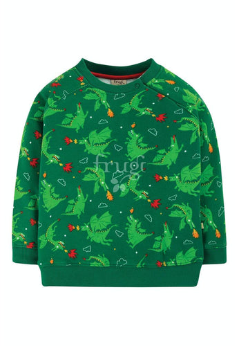 New Release Frugi Rex Jumper Dragons - The Thrifty Stork