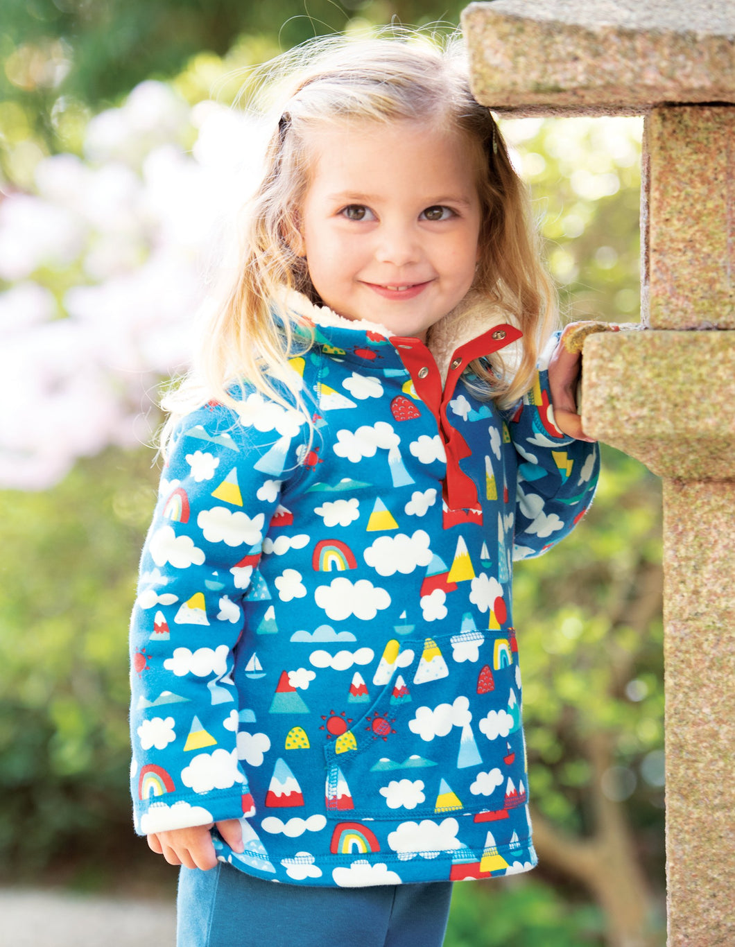 Frugi Little Snuggle Fleece Climb A Rainbow