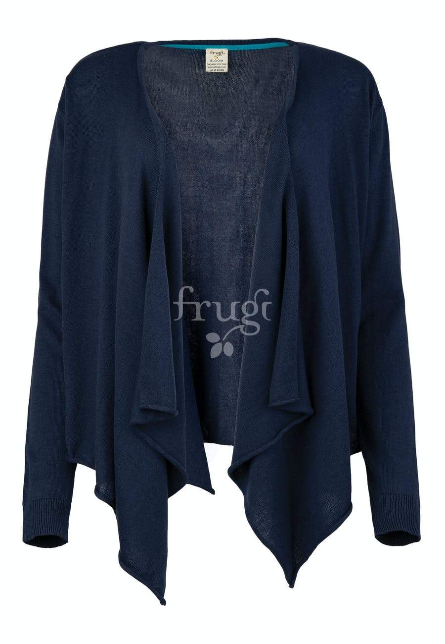 New Release Frugi Penelope Wrap Cardigan Indigo - The Thrifty Stork
