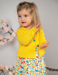 Frugi Carrie Knitted Cardigan Sunflower